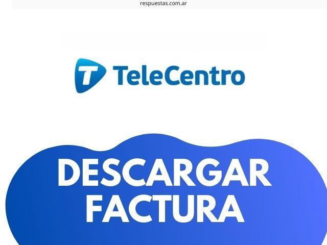 descargar e imprimir factura Telecentro