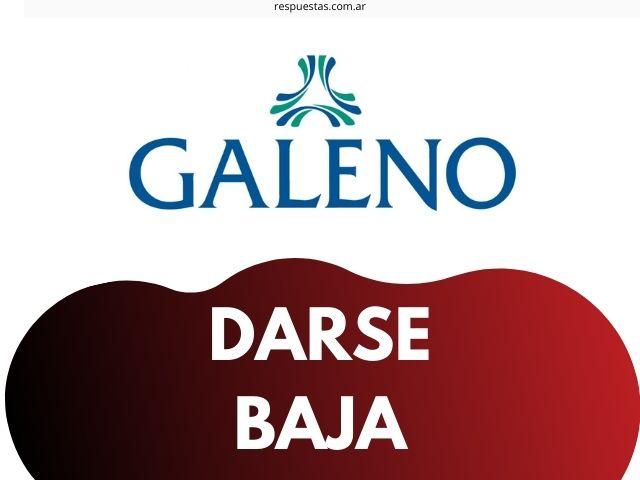 darse de baja de Galeno