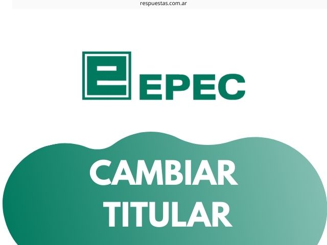 epec cambiar titular