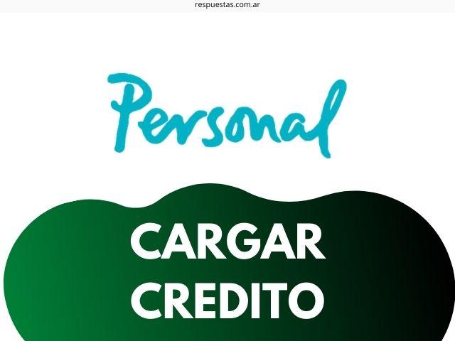 cargar credito personal