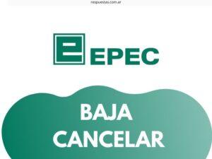 ¿Cómo dar de Baja el servicio de Epec por Internet?