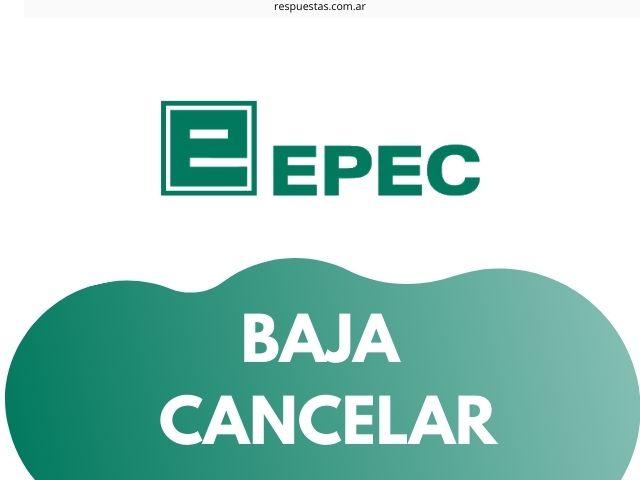 darse de baja de EPEC