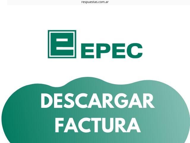 imprimir factura EPEC con DNI