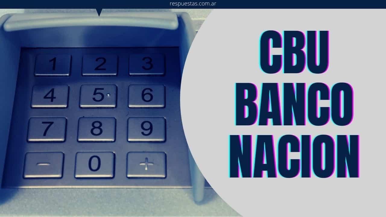 banco nacion saber mi CBU