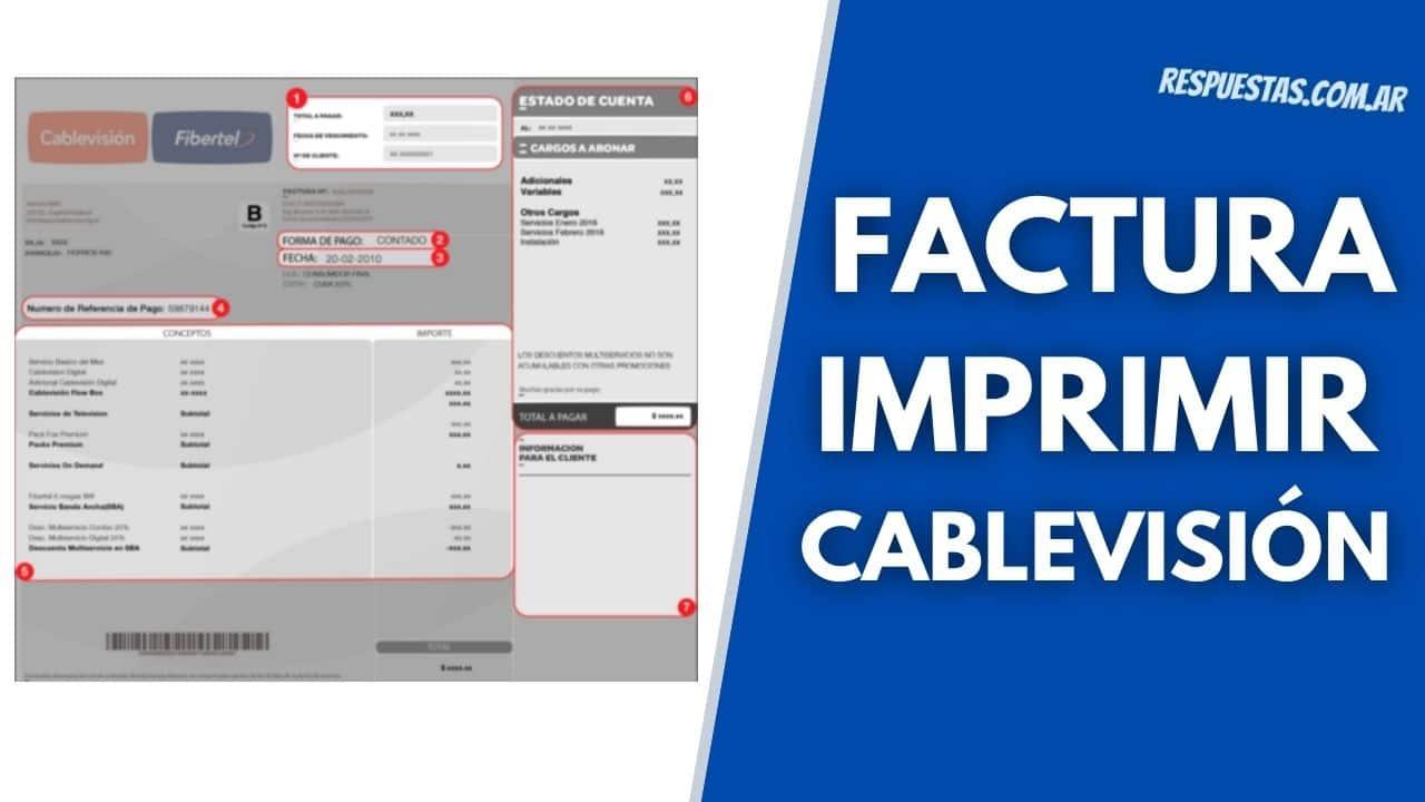 imprimir y descargar facutra Cablevisión