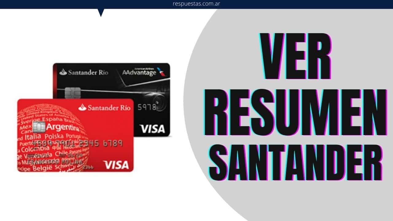 resumen tarjeta Santander Río