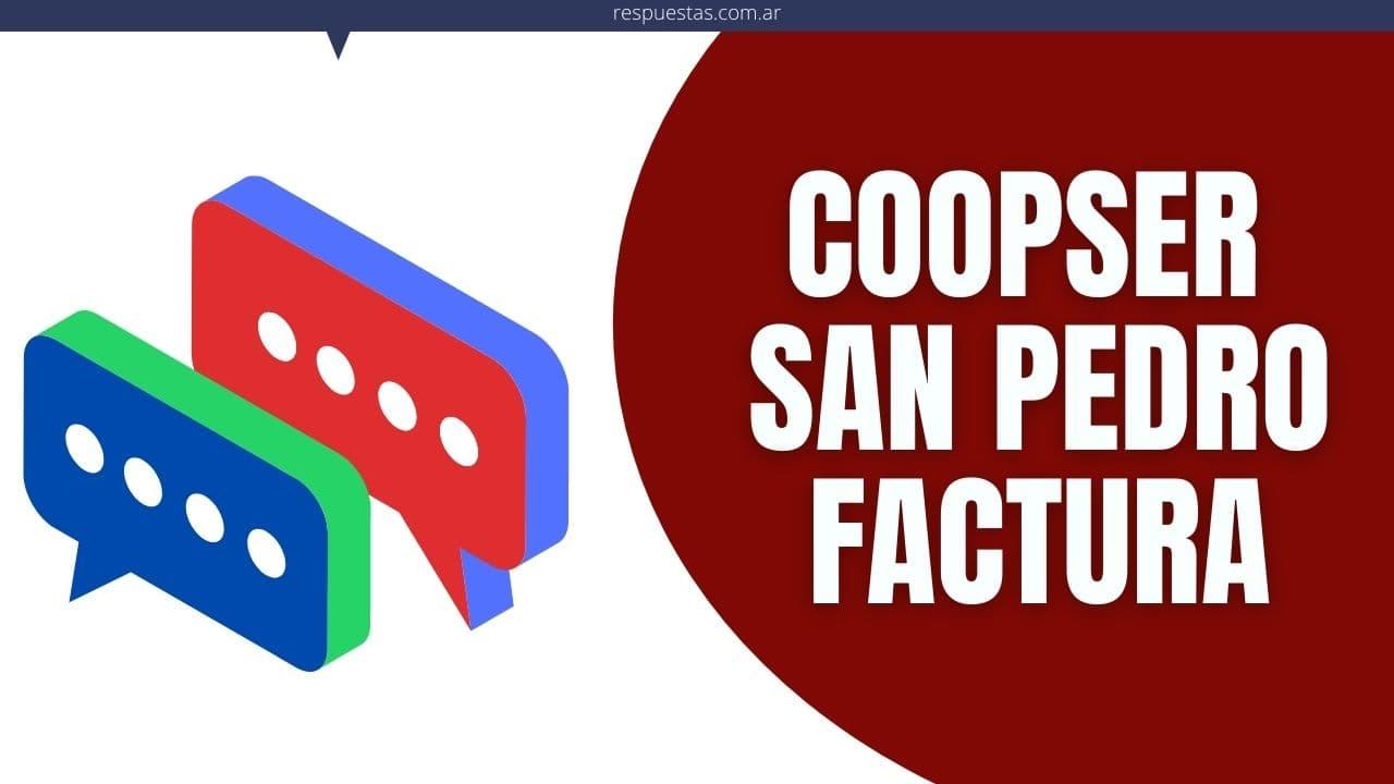 Coopser San Pedro Imprimir Factura